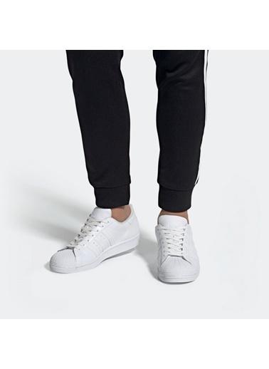 adidas Erkek Superstar Sneakers EG4960 Beyaz